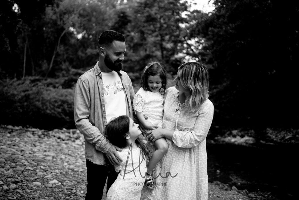 séance famille en forêt Alsace